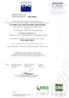 گواهینامه استاندارد ایزو 14001 شرکت کاشی و سرامیک الوند