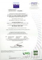 گواهینامه استاندارد ایزو 18001 شرکت کاشی و سرامیک الوند