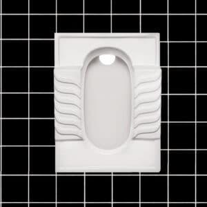 توالت زمینی طبی مروارید مدل النا 59 تخت - توالت ایرانی النا