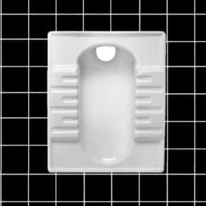 توالت زمینی طبی مروارید مدل نگین 57 گود - توالت ایرانی نگین