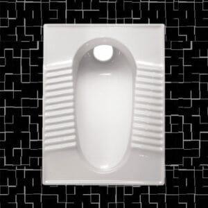 توالت زمینی مروارید مدل مدل فیروزه گود و تخت - توالت ایرانی فیروزه