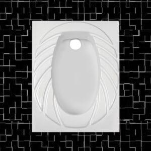 توالت زمینی مروارید مدل پارمیدا 58 تخت - توالت ایرانی مروارید پارمیدا