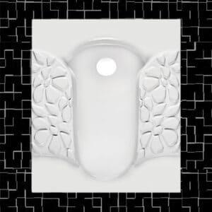 توالت زمینی مروارید مدل والنتینا تخت و گود - توالت ایرانی والنتینا