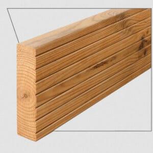 ترمووود - پروفیل چوب ترمو کف شیاردار مدل SHP-Deck-Size26