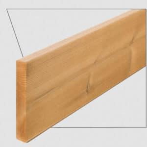ترمووود - پروفیل چوب ترمو ساده مدل SHP-Size16 با تکنولوژی فنلاند