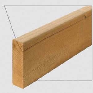 ترمووود - پروفیل چوب ترمو ساده مدل SHP-Size26 با تکنولوژی فنلاند