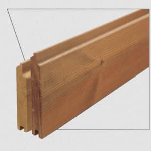 ترمووود - پروفیل چوب ترمو لمبه مدل UTS-Size19 با تکنولوژی فنلاند