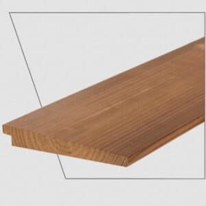 ترمووود - پروفیل چوب ترمو لمبه مدل UYL-Size19 با تکنولوژی فنلاند