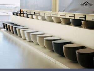 انواع توالت از نظر رنگ