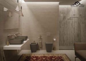 توالت فرنگی زمینی دیواری