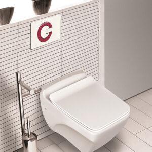 توالت فرنگی وال هنگ مروارید مدل کاتیا 56 - فرنگی وال هنگ کاتیا Katia
