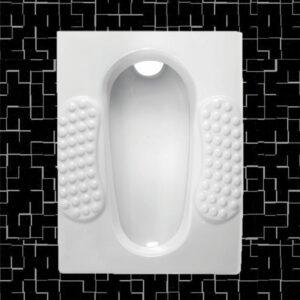 توالت زمینی مروارید مدل مدل کلاسیک گود و تخت - توالت ایرانی کلاسیک