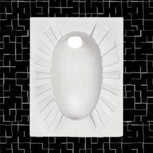 توالت زمینی مروارید مدل کریستال 58 تخت - توالت ایرانی مروارید کریستال