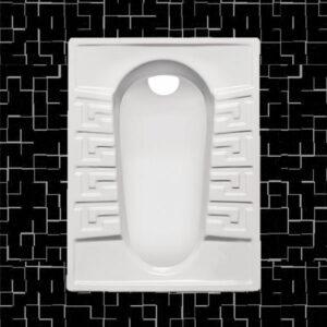 توالت زمینی مروارید مدل رومینا 58 تخت - توالت ایرانی مروارید رومینا