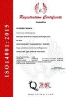 استاندارد بین المللی ISO14001-2015 دورین سرام رفسنجان