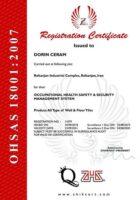 استاندارد بین المللی OHSAS18001-2007 دورین سرام رفسنجان