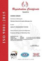 استاندارد بین المللی ISO9001-2015 دورین سرام رفسنجان