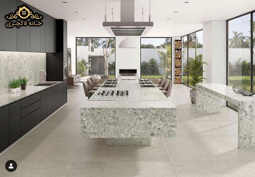 جزیره آشپزخانه با سرامیک پرسلان