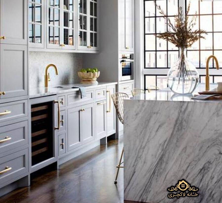 آشپزخانه با سنگ مرمریت