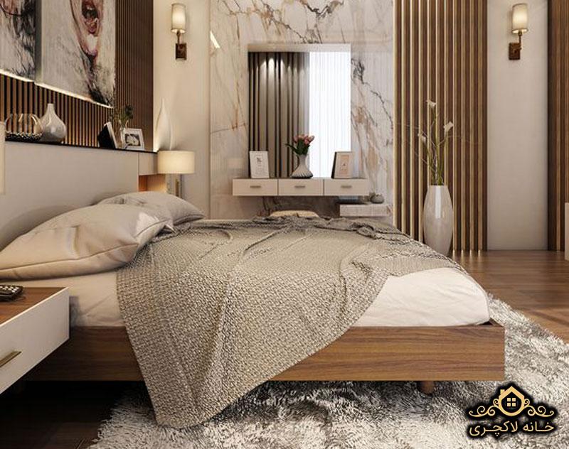 سنگ مرمریت در اتاق خواب
