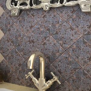 کاشی دیوار ندا 15 در 15 سرامیک البرز Neda طرح سنگ آنتیک
