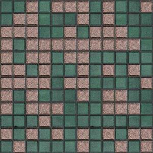 کاشی استخری مدل هوگو میکس سبز قهوه ای 2.5 در 2.5 سرامیک البرز