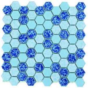کاشی استخری مدل میکس بارانی شش ضلعی سرامیک البرز