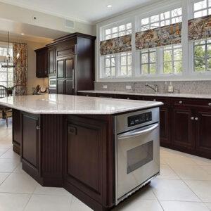 سنگ لاکجری آشپزخانه مدل گرانیت سفید نطنز